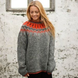 Sweaters - Icelandic handknit Pure Wool Sweater